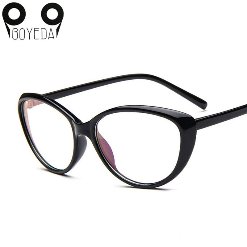 6da9d643e6 2019 Wholesale BOYEDA New Women S Fashion Cat Eye Optical Glasses Frame  Vintage Women Reading Eyewear Eyeglasses Retro Myopia Eye Glasses Frame  From Huazu