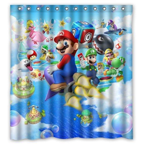 2019 Super Brothers Mario Custom Waterproof Shower Curtain Bathroom Curtains Bath 60x72 Inches From Dhkey2014 3517