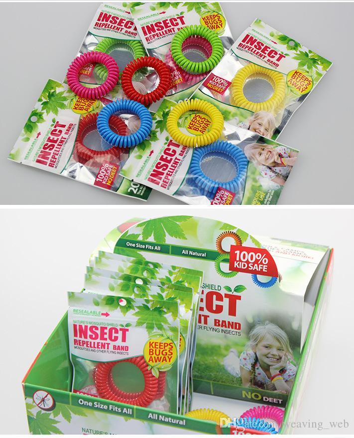 Крупномасштабные 5 цветов Комаров браслеты группа анти-Комаров чистый натуральный взрослых и детей запястье смешанные цвета борьбы с вредителями