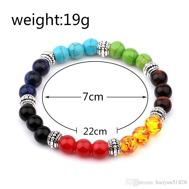 fashion Muti-color Mens Bracelets Malachite Lava Chakra Healing Balance Beads Bracelet For Women Reiki Prayer Yoga Bracelet Stones