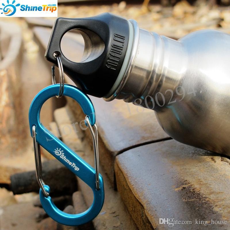 8-Shaped Aluminum Carabiner KeyChain Hook Clip Camping Equipment EDC Gear Traveller Slide Lock Water Bottle Buckles Snap