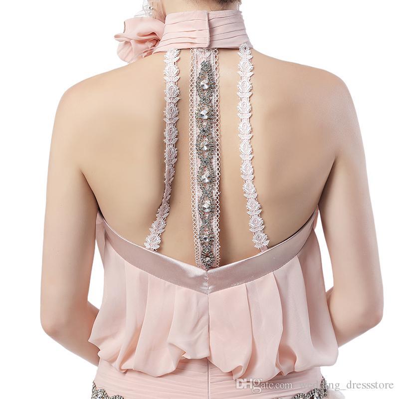 깃털 댄스 파티 드레스 2017 섹시한 패션 높은 목 파티 가운 가운 드 Soiree 이브닝 드레스 Vestidos Longos 파라 Formatura