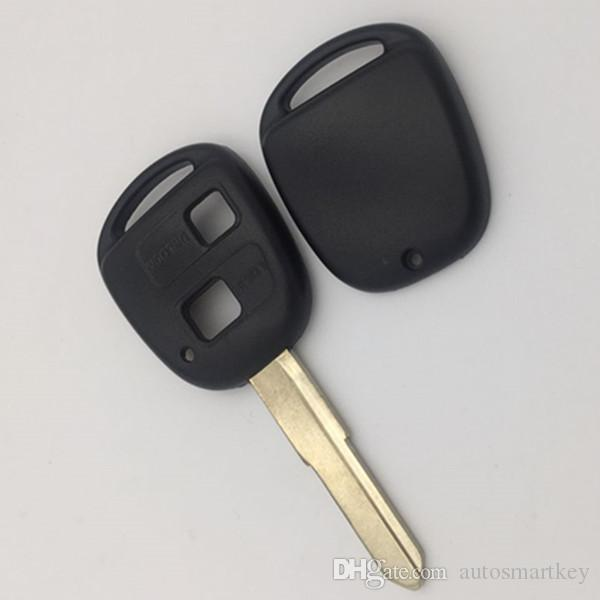 New auto replacement remote key shell for toyota Daihats 2 button key blank case without logo Japan model 50pcs/lot