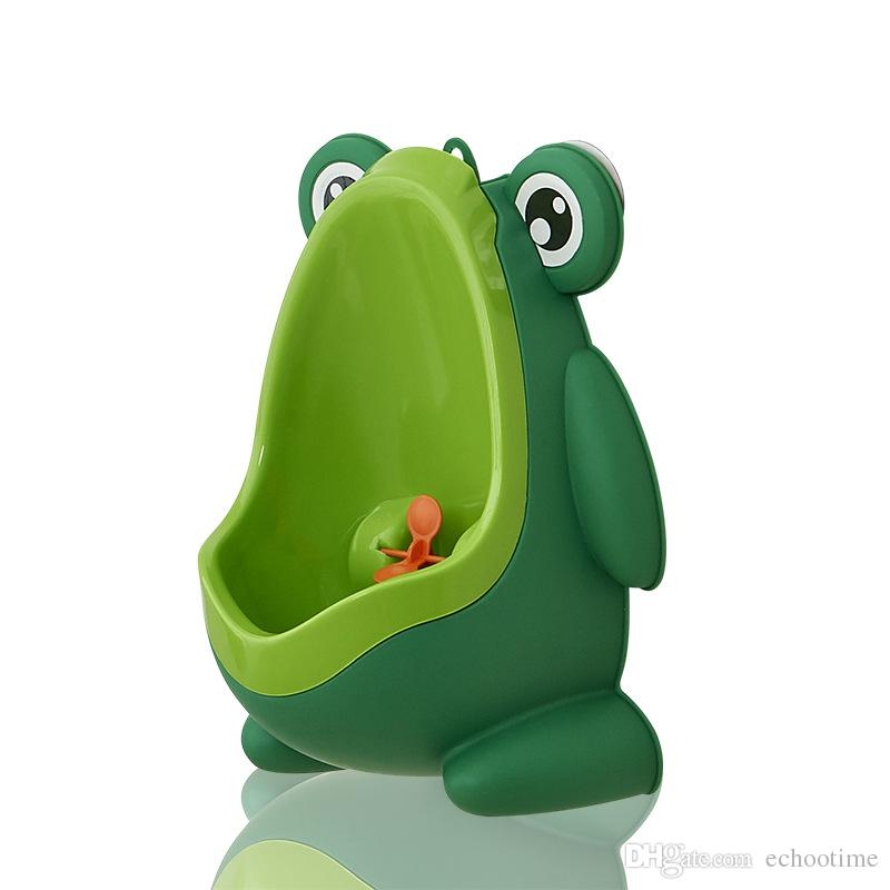 Frog Shaped Boys Stand Vertical Urinal Wall-Mounted Potty Toilet Training Kids Urinal Baby Children PP Trainer Bathroom