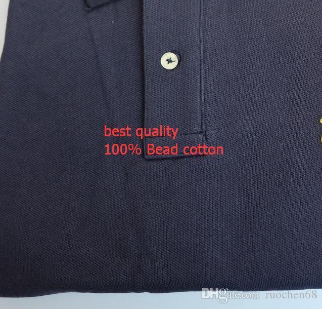 الرجال الصيف قميص قصير الأكمام الرجال الرياضية عارضة تي شيرت قمصان الجولف 100 ٪ CONTON PONY SIZE S-XXL