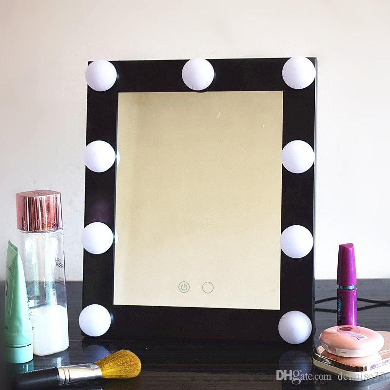 Hollywood Makeup Mirror With Led Lights Aluminum Vanity Makeup Lighted  Mirror Big 9bulb Bathroom Mirror Cosmetic Mirror Large Bathroom Mirrors  From  Hollywood Makeup Mirror With Led Lights Aluminum Vanity Makeup  . Big Vanity Mirror With Lights. Home Design Ideas
