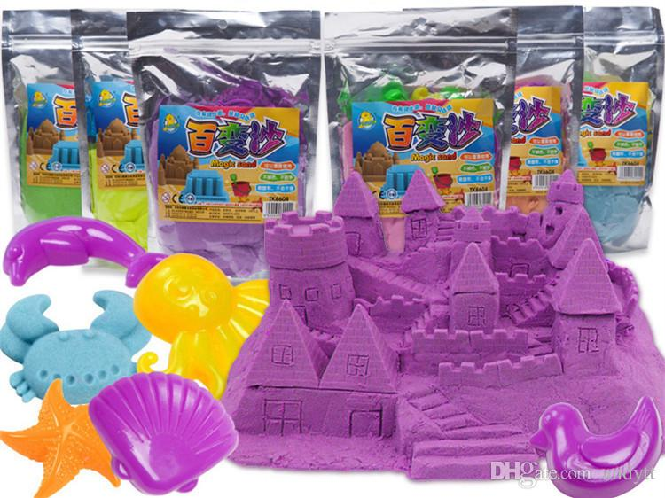 Gift Tools 500G/bag 60 bag Hot Sale Dynamic Educational Amazing Indoor Magic Play Sand Children Toys Space Sand GB020