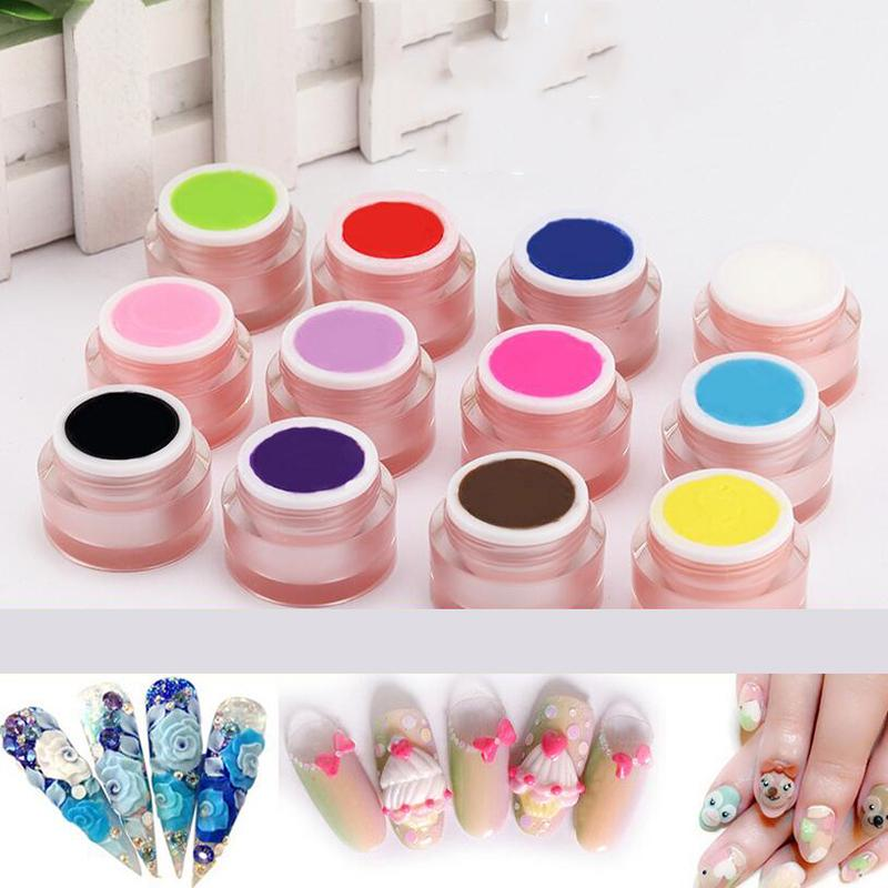 Wholesale 4d Carved Gel Nail Art Carving Sculpting Painting Coloured ...