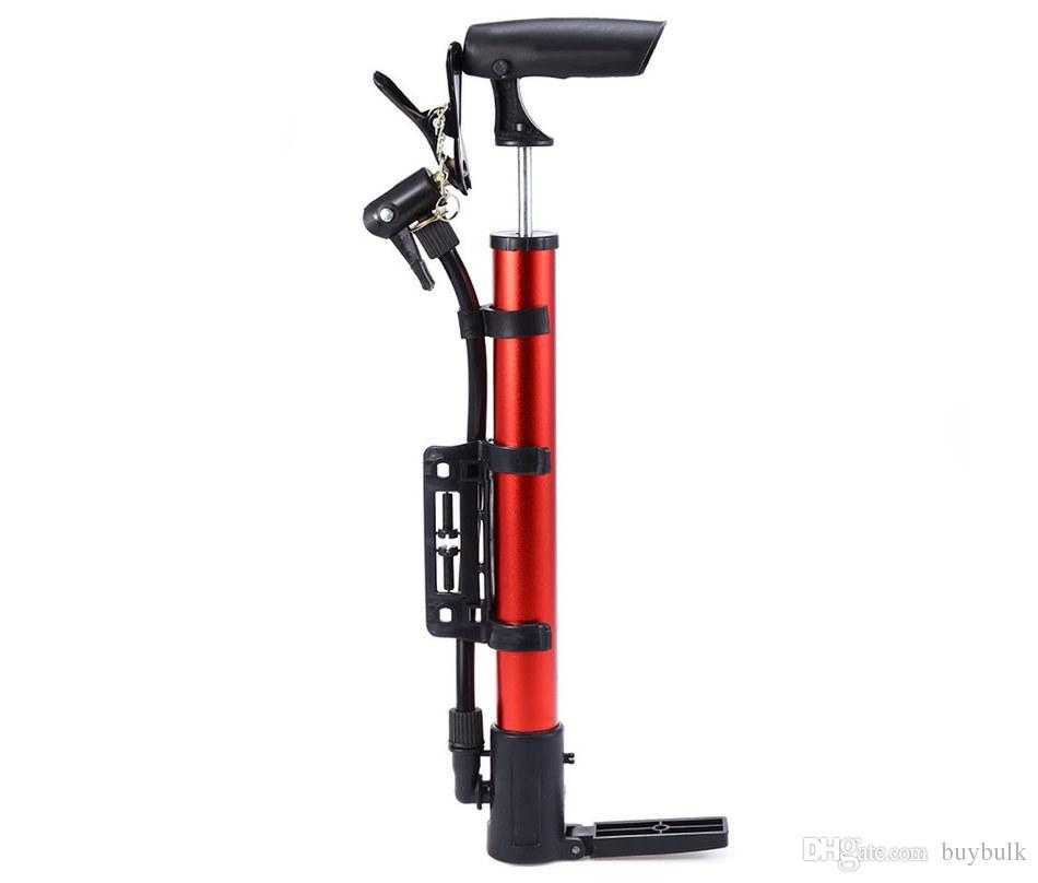 Portátil da bicicleta da bicicleta de alumínio bola bomba Tire manual de alta pressão insuflação Mountain Cycling Acessórios
