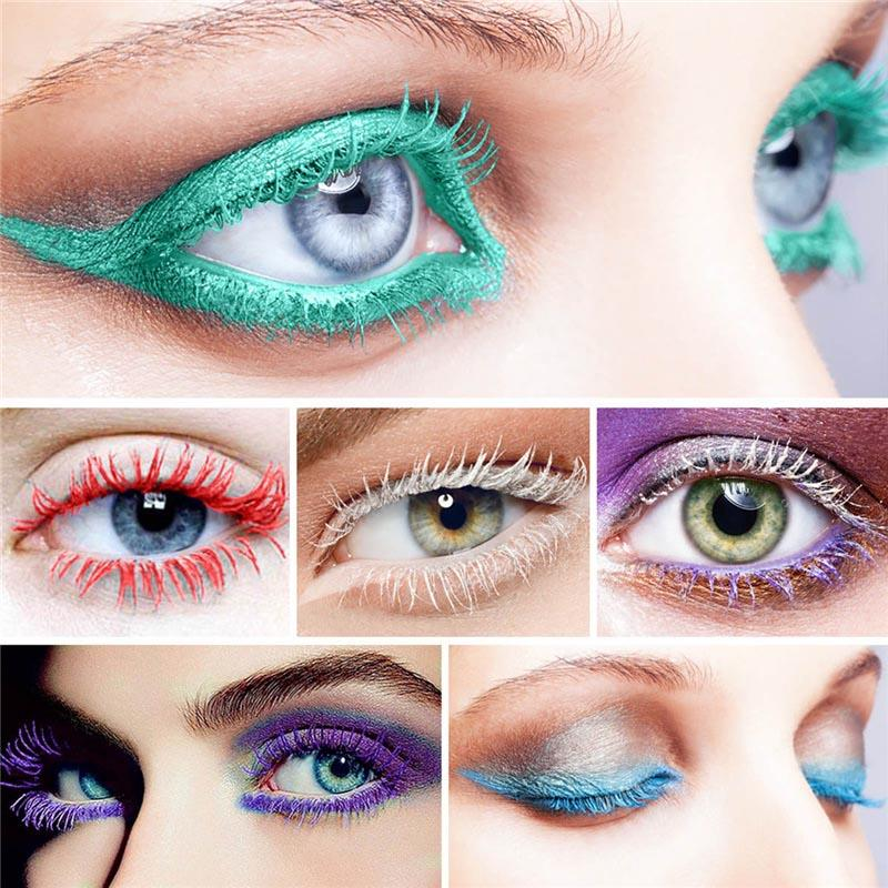 Gökkuşağı Renkli Maskara Profesyonel Göz Lashes Curling Maskaralar Kalın Uzatma Yoğun Su Geçirmez Kozmetik 1218006