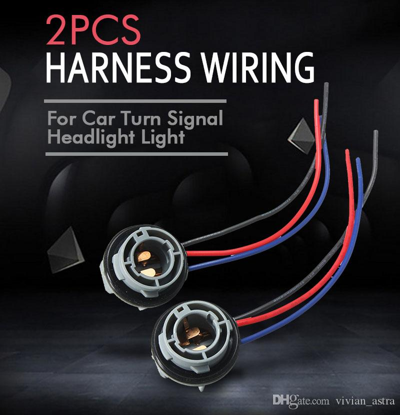 10cm 1157 2057 2357 BAY15D Car Lamp Socket Adapter Connector Harness Wiring For Car Auto Turn Signal Headlight Light Bulb