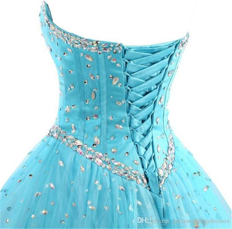 2017 Fashion Crystal Ball Gown Quinceanera Dresses with Beading Sequin With Jacket Plus Size Sweet 16 Dress Vestido Debutante Gowns BQ75