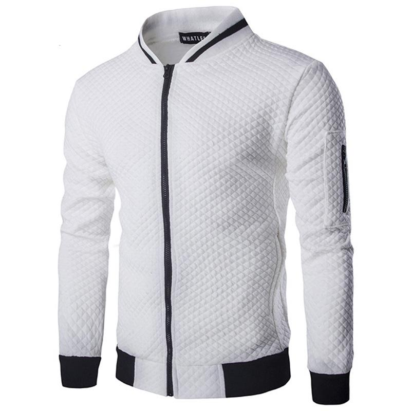 2018 Hoodies Men Casual Hoodies Hip Hop Mens Brand Diamond lattice Leisure Zipper Jacket Hoodie Sweatshirt Slim Fit Men Sportswear