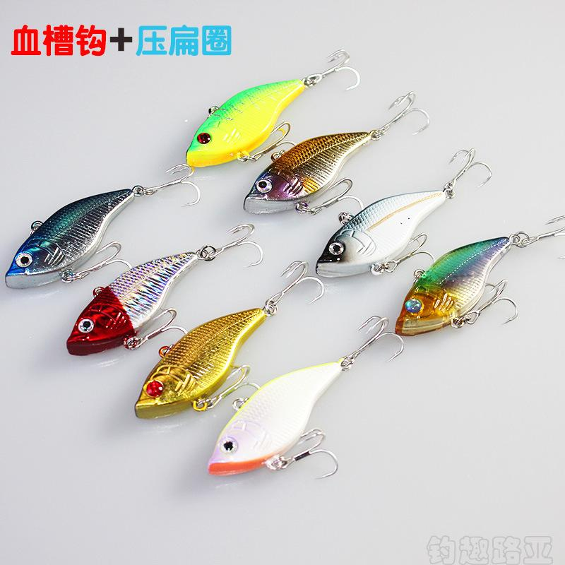 New Fast Trembling VIB Fishing lures 5cm 14.5g 3D Eyes Full sinking Wobbler bait ABS Plastic Fishing tackle