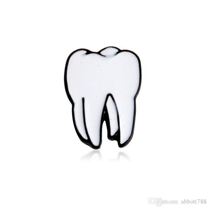 4pcs/set Personality Creative Enamel Organ Eyes Brain Tooth Heart Brooches Women Fashion Jewelry Wedding Banquet Scarf Gifs Brooch Pin DH336