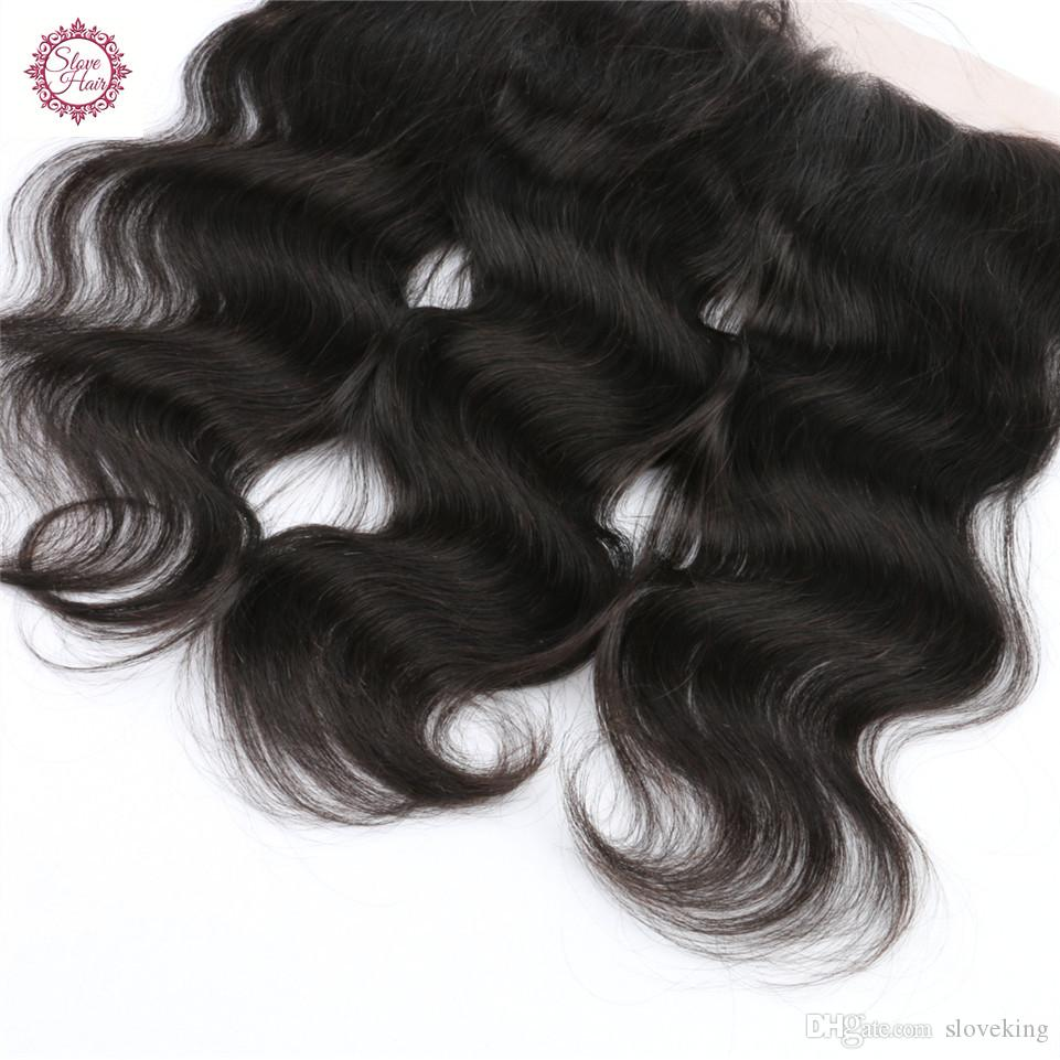 Slove Hair virgin Brazilian Body Wave lace frontal closure 13x4 with baby hair, body wave swiss lace frontal closure