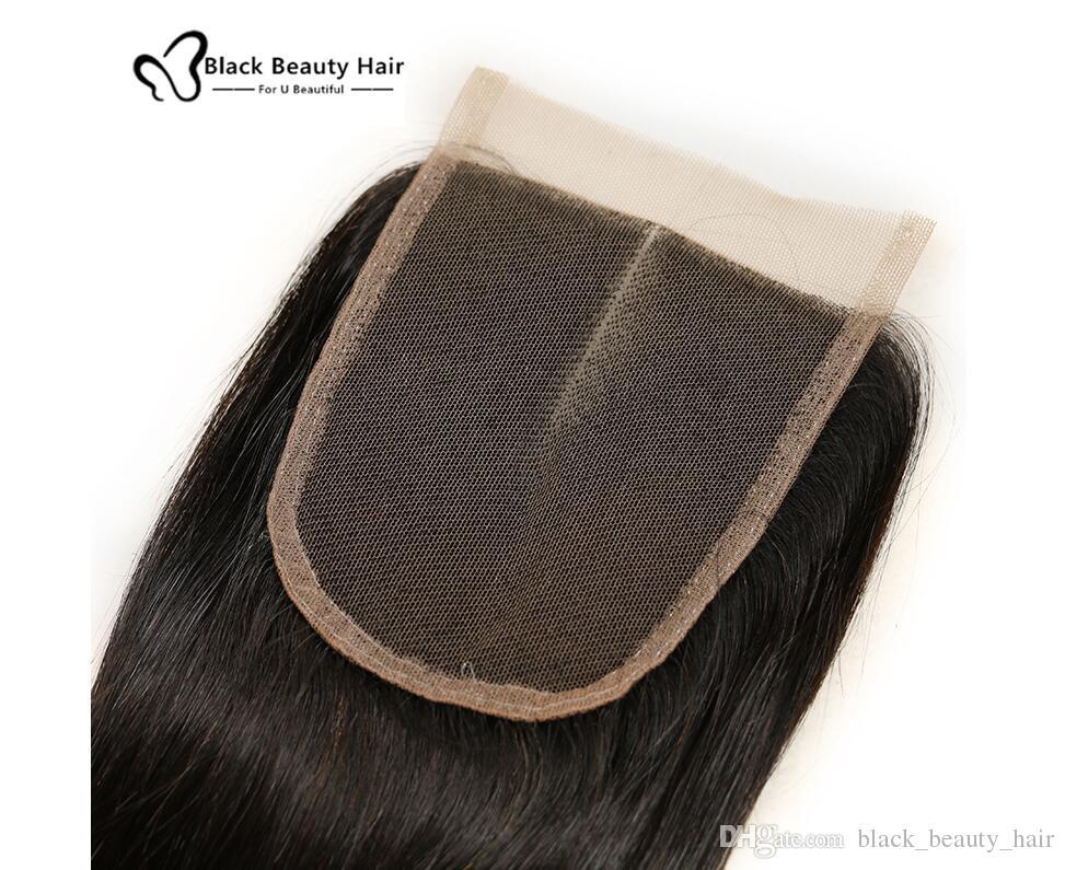 Brazilian Virgin Human Hair Lace Closures Peruvian Malaysian Indian Cambodian Mongolian Body Wave Straight Loose Deep Jerry Curl Closures