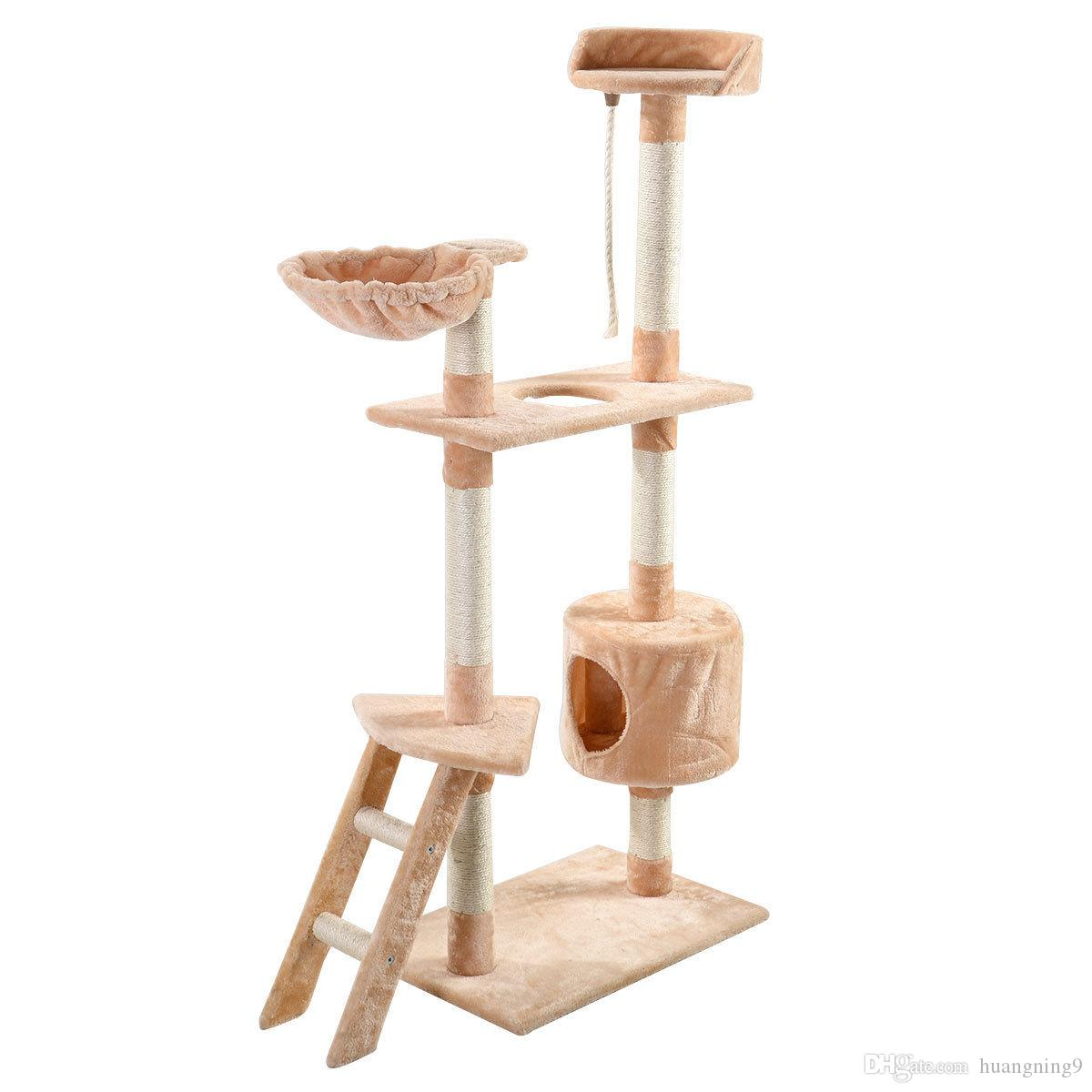 new 60 cat tree tower condo scratcher furniture kitten pet house hammock beige cat tree tower condo online with  43 72 piece on huangning9 u0027s store   dhgate      new 60 cat tree tower condo scratcher furniture kitten pet house      rh   dhgate