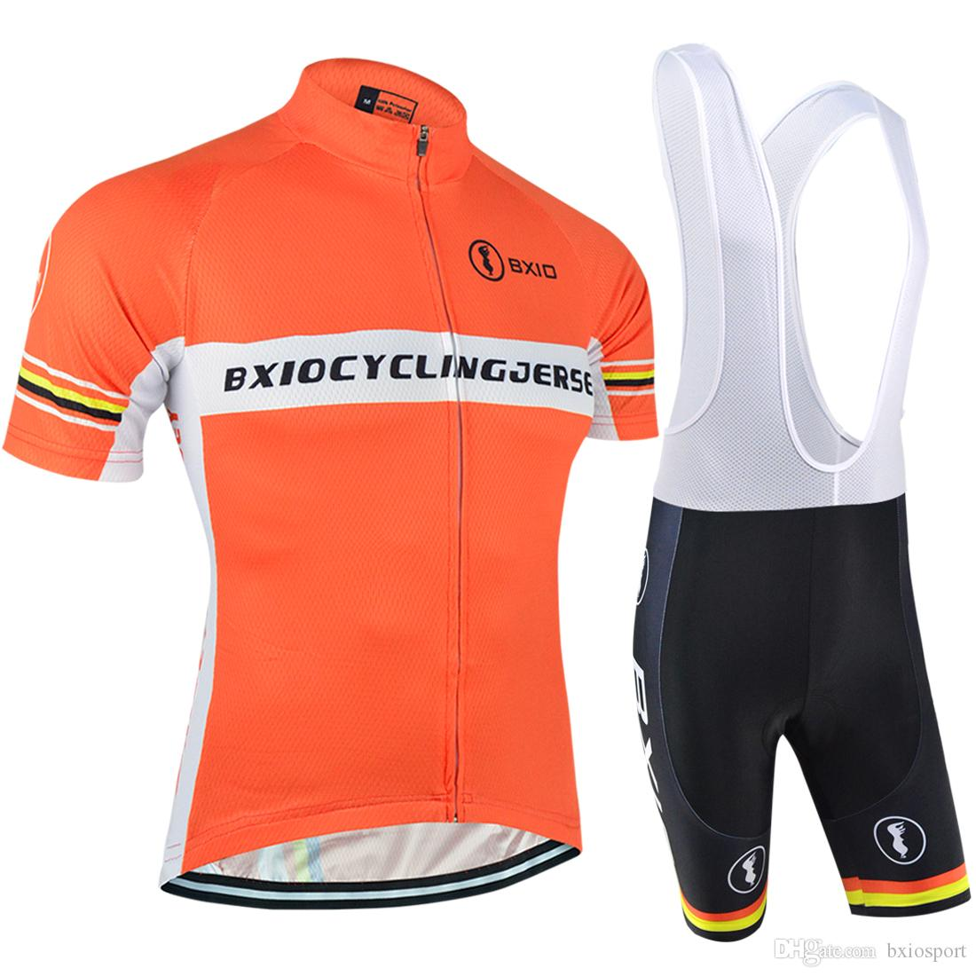 BXIO Brand New Cycle Clothing Summer Short Sleeve Bike Jersey And Pants  Cool Orange Road Bicycle Jerseys Quick Dry Bike Clothing BX 033 Cycle Gear  Cycle ... 0ef6ceaa2