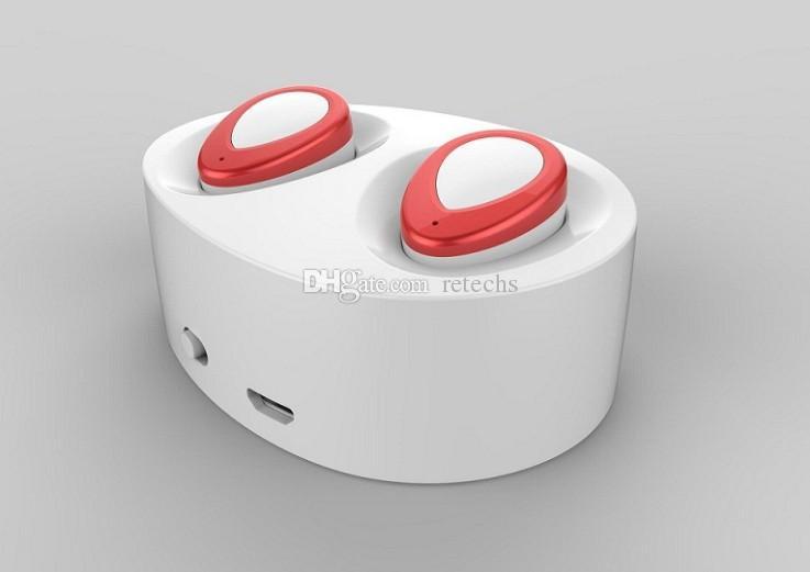 Mini Twins Echte drahtlose Bluetooth-Stereo-Headset Sport-Kopfhörer In-Ear-Kopfhörer Ohrhörer Ohrhörer TWS mit Ladebuchse für Smartphone
