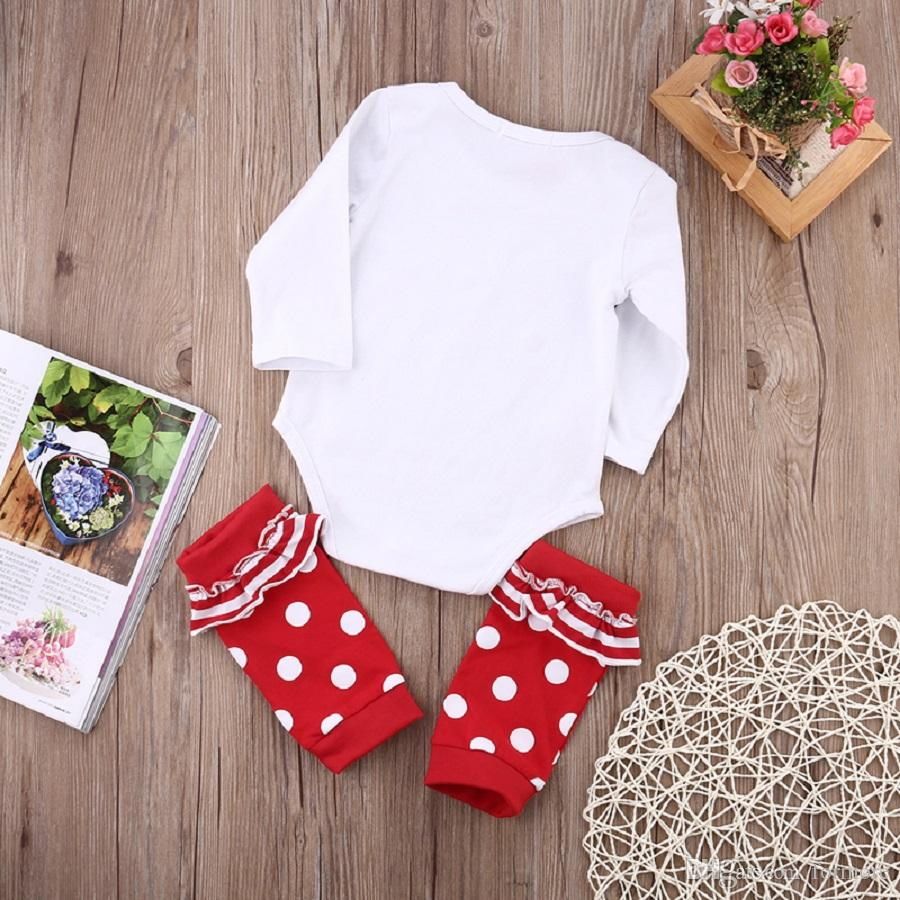 Christmas Newborn Baby Grils Clothes Toddler Romper Suit Legging Warmer Onesies Infant Long Sleeve Leotards Boutique New Year Pajamas
