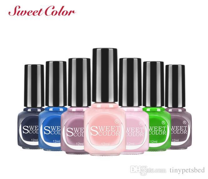 Sweet Light Gel Luminous Nail Polish Candy Color Good Qulity ...