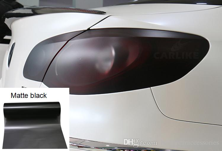 1000cmx30cm 12 Colours Waterproof Strong Self Adhesive PVC Car Headlight Film Auto Car Sticker HeadLight Taillight Tint Vinyl