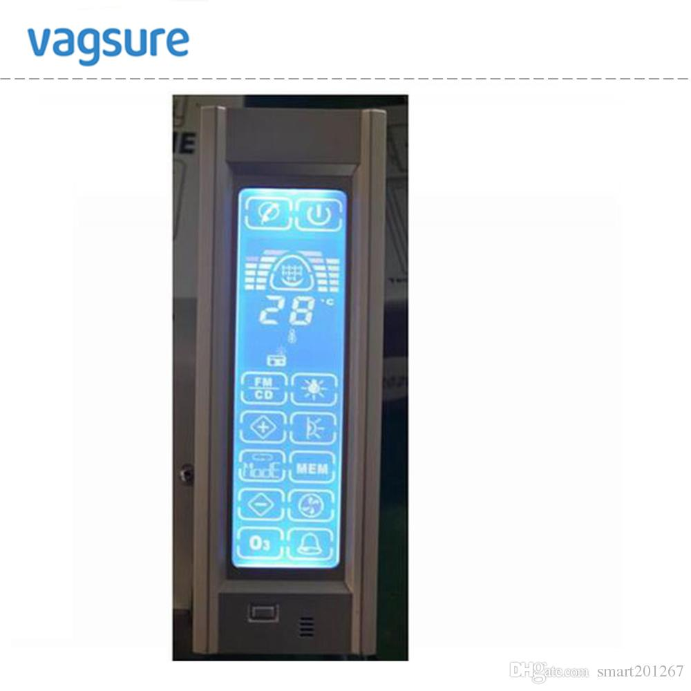 A515 full LCD display screen shower cabin hi-fi FM radio control with roof/rear light/speaker/ventilation fan/freehand telephone