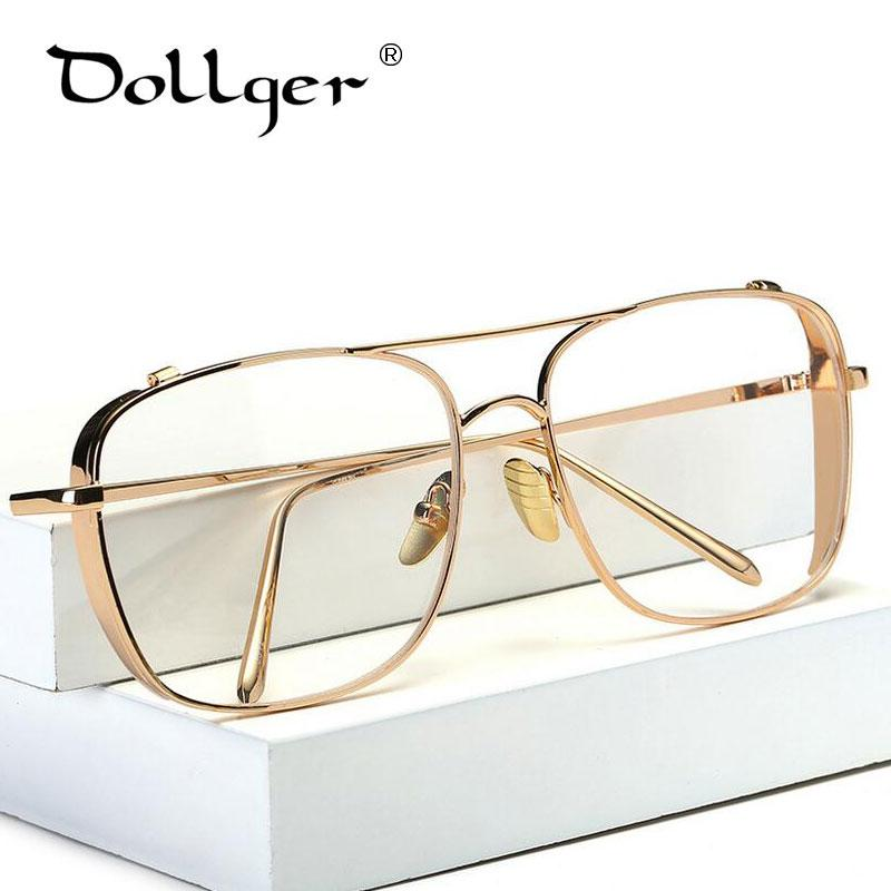 a8a5a437a8d0 2019 Wholesale Dollger Eyeglass Frames Men Big Metal Computer Goggles Anti  Fatigue Radiation Resistant Glasses Frame Women Eyewear S1293 From ...
