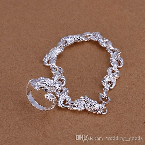 beste Geschenk Trennung von Kabel Perlen versilbert Schmuck-Sets für Frauen WS253, schöne 925 Silber Halskette Armband Ohrring-Set