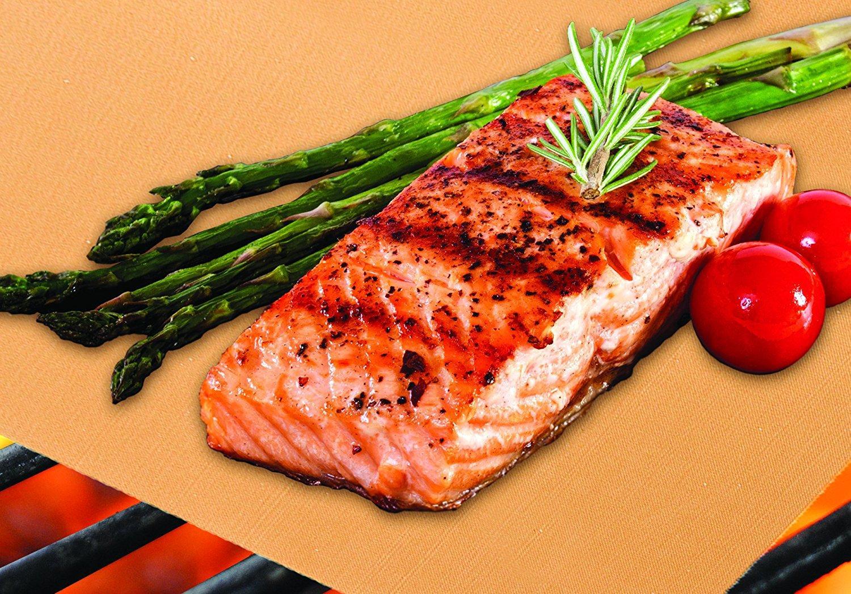 BBQ أدوات الملحقات الذهب النحاس لون شواء وخبز ماتس الحرارة موصل أداة المطبخ