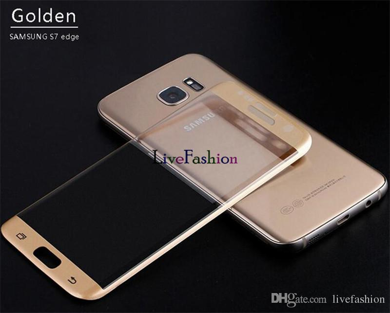 Ultra Slim 9H Hardness Tempered Glass For Samsung S8 plus 3D Full Curved Screen Crystal Protector HD Super Thin Film For Galaxy S7 edge s6
