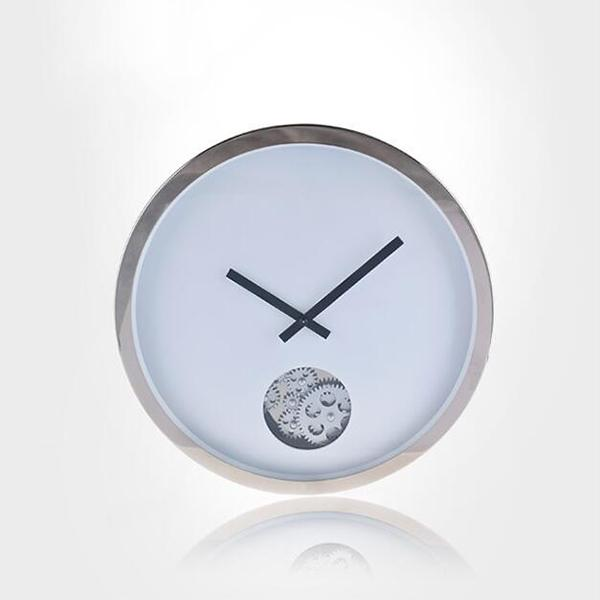 stainless steel quartz gear wall clock unique modern round shaped design quartz and silence movement pendulum wall clocks wall of clocks wall watch from - Pendulum Wall Clock