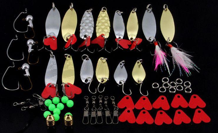 Kit Leurre De Pêche Mixte Minnow Popper Spinner Cuillère Leurre Avec Crochet Isca Appâts Artificiels Leurres Poissons Set Pesca out227