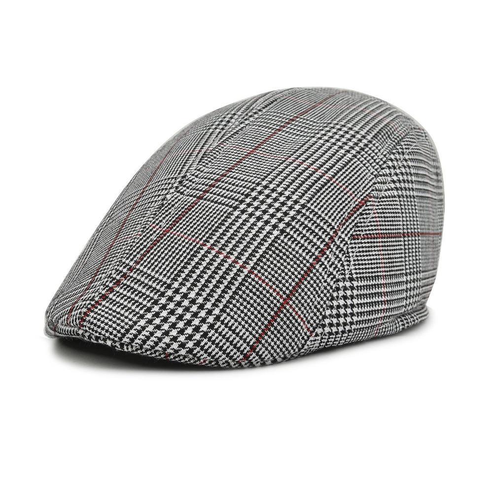 1f61ae93c48 Wholesale- Plain Cap Men Cotton Ivy Hat Golf Driving Flat Cabbie Cap ...