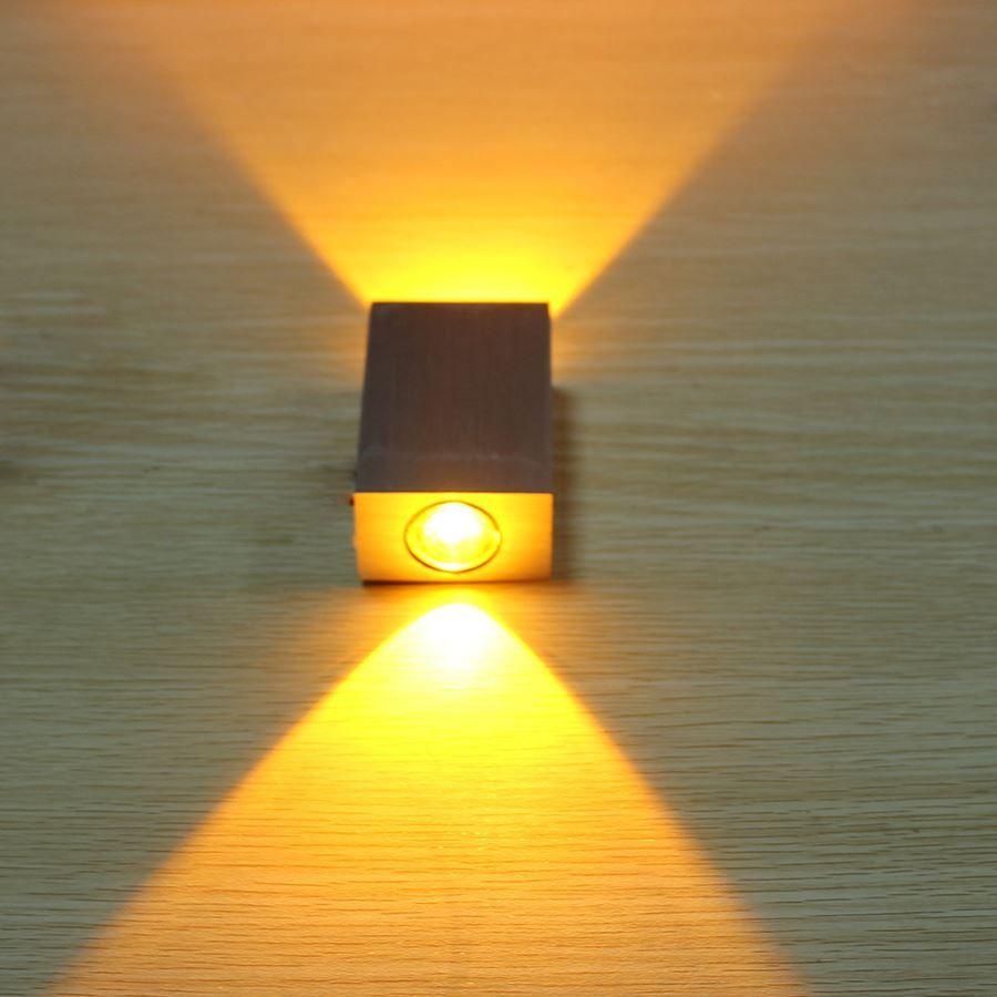 6W Aluminum Square Led Wall Lamp AC85-265V COB High Power Led Modern ...