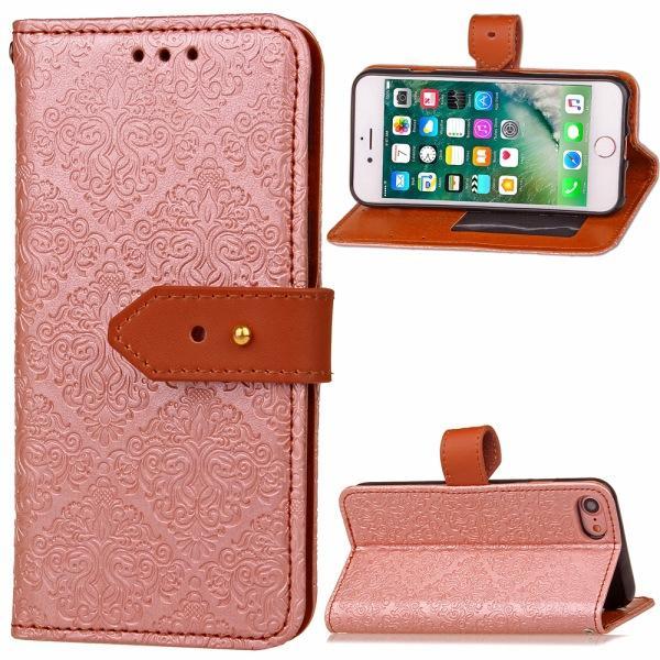 Modello della cassa del cuoio basamento dell'unità di elaborazione copertura dell'alloggiamento sacchetto del telefono Stent stile del raccoglitore con il supporto di carta Samsung S3 4 5 6 iPhone 6S pacchetto 6 Plus OPP