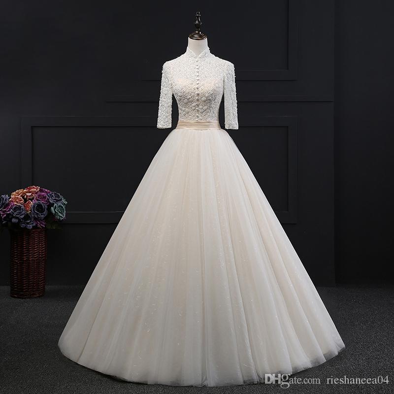 compre patrones de vestido de novia de encaje vestido de bola de