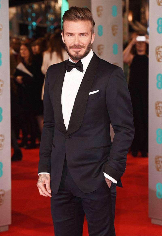 David Beckham Mens Suits For Wedding 2017 Shawl Lapel Custom Made ...