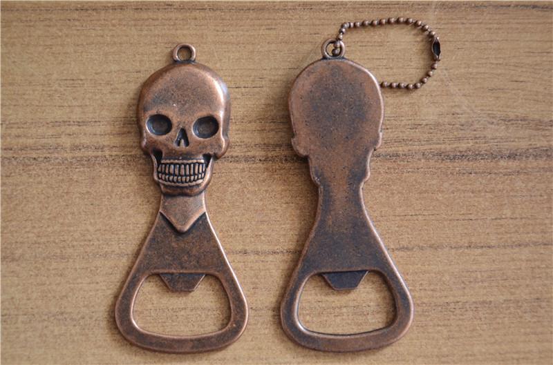Skull Design Retro Copper Bottle Opener Wine Beer Openers Kitchen Gadgets Bottle Tools Kitchen Bar Beer Bottle Openers