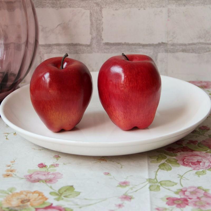 2 unids / lote Red Delicious Ciruela / Serpiente fruta Espuma Artificial Fruta Falsas Para La Boda Casera Juguete Cognitivo Mesa de Comedor Decoraciones de Navidad Del Molde