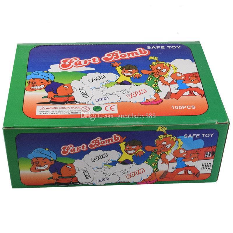 Nouveau Fart Bomb Sacs Nouveauté Stink Bomb Smelly Drôle Pratique Blagues Gadget Prank Gag Cadeau pour Halloween Noël C2731