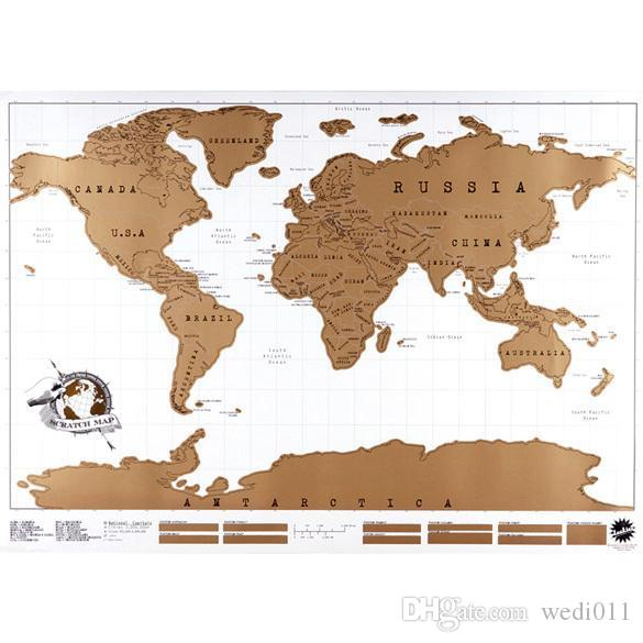 Travel Scratch Off Map Personalized World Map Poster Traveler - High quality world map poster