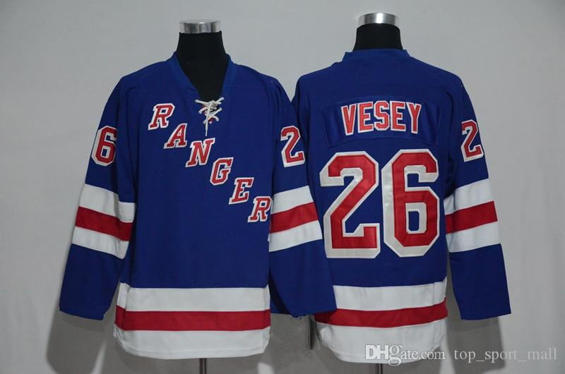 separation shoes 68b13 33827 2019 2017 NWT 26 Jimmy Vesey Jersey Men New York Rangers Jimmy Vesey Ice  Hockey Jerseys Cheap Team Home Blue All Stitched Best Quality On Sale From  ...