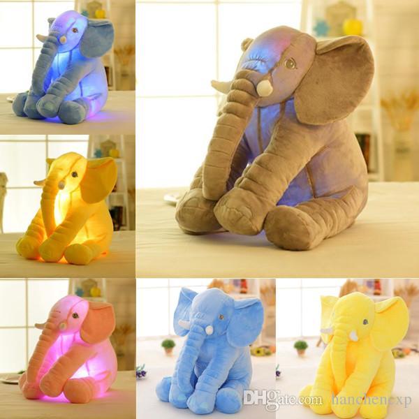 2019 Led Lighted Toys 50cm Elephant Pillow Soft Stuffed Animals