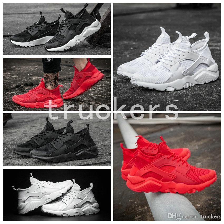 2017 New Air Huarache 4 Running Shoes For Men Women All Red Huraches Ultra  Breathe Huaraches Athletic Hurache Sports Sneakers Size 36 46 Mens Running  Shoes ... 1dd563814