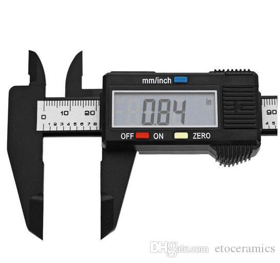 Nueva Llegada 150mm 6 pulgadas LCD Digital de Fibra de Carbono Electrónica Vernier Caliper Gauge Micrómetro Herramienta de Medición
