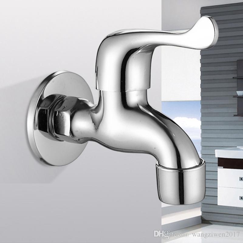 2017 Bathroom Faucet Laundry U0026 Utility Faucets Washing Machine Brass  Faucets Chrome Wall Mounted Single Hole Single Handle From Wangziwen2017,  ...