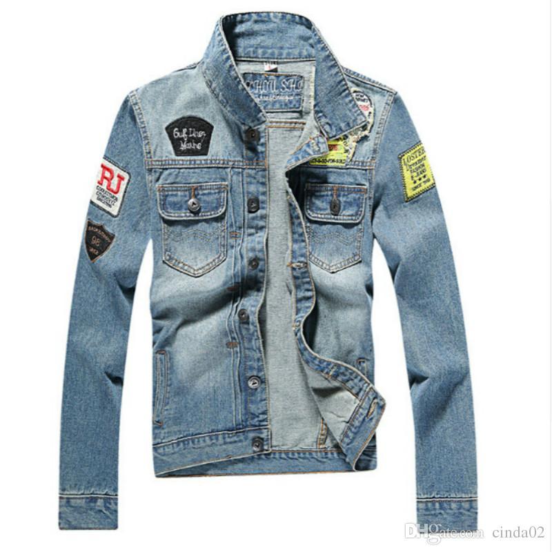 1d6c1fd28ac2 Men S Denim Jacket High Quality Fashion Jeans Jackets Slim Fit Casual  Streetwear Vintage Mens Jean Clothing Plus Size M 5XL Leather Jacket Mens  Quilted ...
