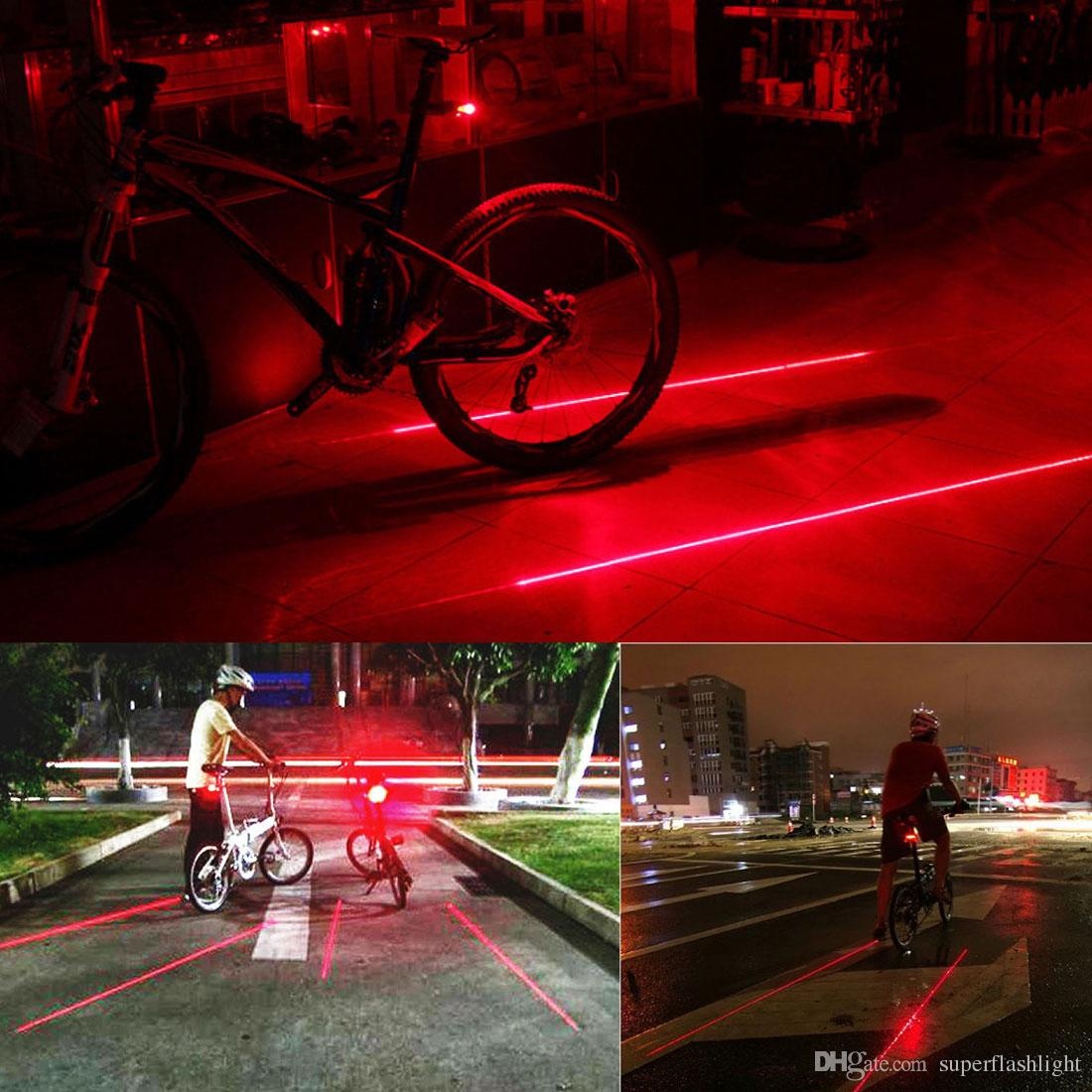 Waterproof 8000Lm 5 x CREE XM-L U2 LED Front Bicycle Light Bike Headlamp Lamp Headlight+ 2 Laser 5 LED Rear Light BLL_00S